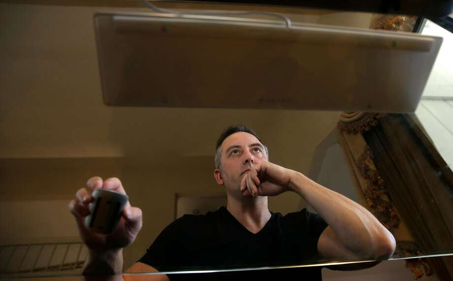 Paul Walsh is the CEO of startup MetaCert, working at his computer at his home in Danville, Ca., on Friday September 22,  2017. Photo: Michael Macor, The Chronicle