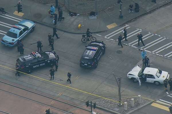 Police are investigating a double shooting and crash in South Seattle.