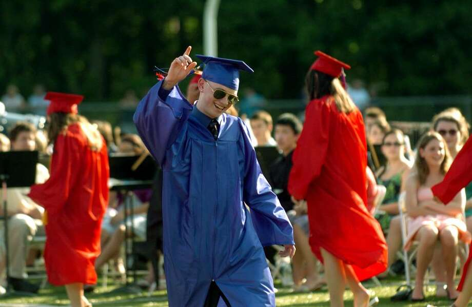 Highlights from Foran High School's Graduation Exercises in Milford, Conn. on Wednesday June 23, 2010. Graduate Kyle Keating. Photo: Christian Abraham / Connecticut Post