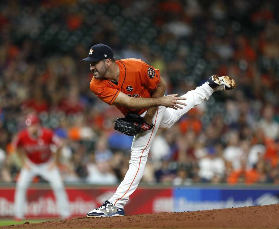 Houston Astros starting pitcher Justin Verlander will get the start in Game 1 of the American League Division Series against the Red Sox on Thursday.  ( Karen Warren / Houston Chronicle ) Photo: Karen Warren/Houston Chronicle