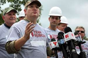 Sen. Ted Cruz, who was part of a congressional delegation viewing storm damage this week, brushed off the barbs by Sen. Al Franken as an attempt to sell books.