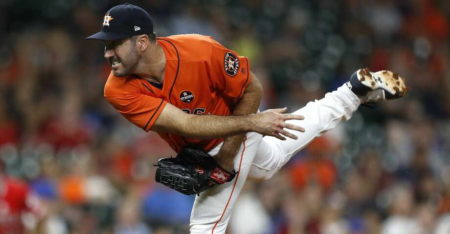 PHOTOS: Astros 3, Angels 0Houston Astros starting pitcher Justin Verlander (35) pitches during the fourth inning of an MLB baseball game at Minute Maid Park, Friday, Sept. 22, 2017, in Houston.  ( Karen Warren / Houston Chronicle )Browse through the photos to see action from the Astros' win over the Angels on Friday night. Photo: Karen Warren/Houston Chronicle