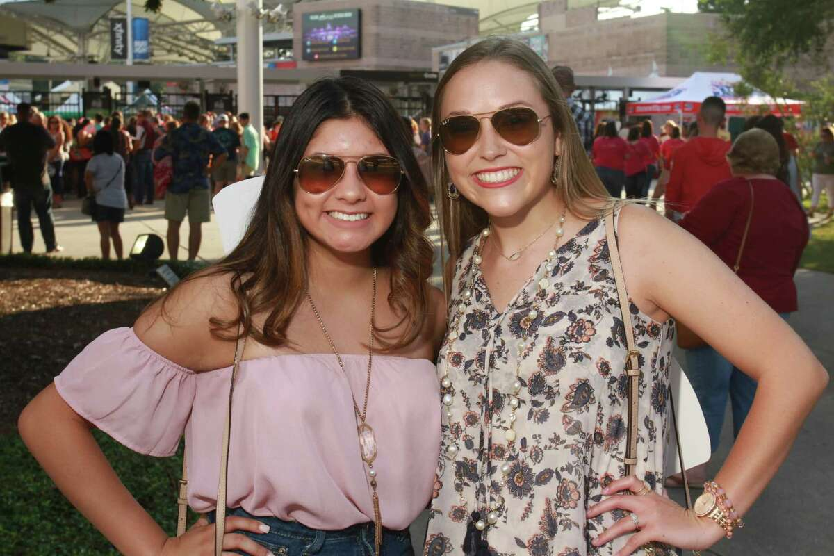 Fans attending the Luke Bryan concert at the Woodlands Pavilion. (For the Chronicle/Gary Fountain, September 22, 2017)