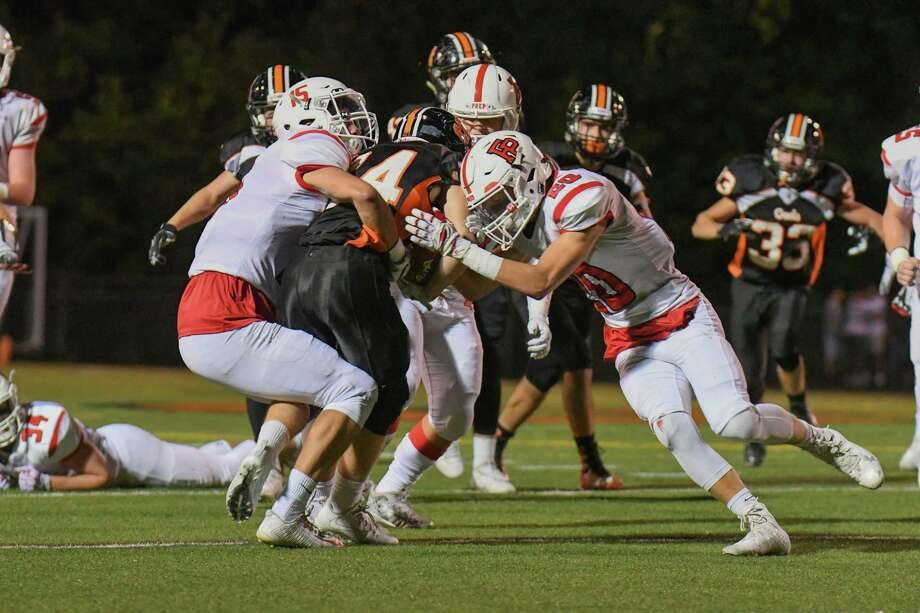 Game action between the Shelton Gaels and the Fairfield Prep Jesuits at Shelton High School on September 22, 2017 in Shelton, Connecticut. Photo: Gregory Vasil / For Hearst Connecticut Media / Connecticut Post Freelance