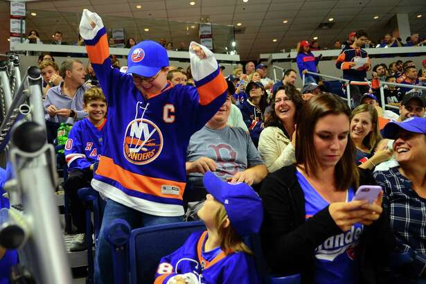 NHL exhibition hockey action between the NY Islanders and the NY Rangers at the Webster Bank Arena in Bridgeport, Conn., on Friday Sept. 22, 2017.