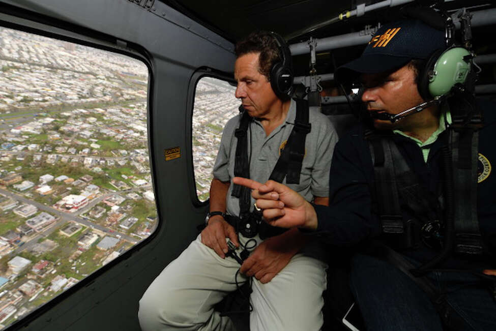 Courtesy of the Executive Chamber Gov. Andrew Cuomo surveys Hurricane Maria's damage to Puerto Rico on Friday, Sept. 22, 2017. Cuomo had arrived Friday morning in Puerto Rico to provide emergency goods and services at official request of Governor Ricardo Rossello.