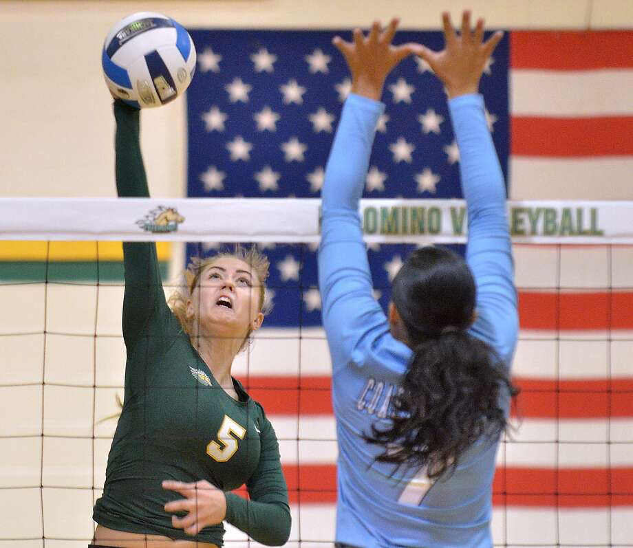 Outside hitter Lucie Mahelova and the Palominos won their sixth straight game to start the season as Laredo College defeated Temple and Victoria on Friday at the Blinn Tournament. Photo: Cuate Santos /Laredo Morning Times File / Laredo Morning Times