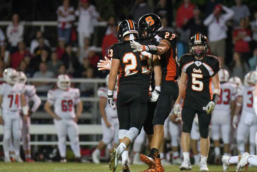 The Shelton football team scored a 19-15 win over Fairfield Prep on Friday night at Shelton High School.