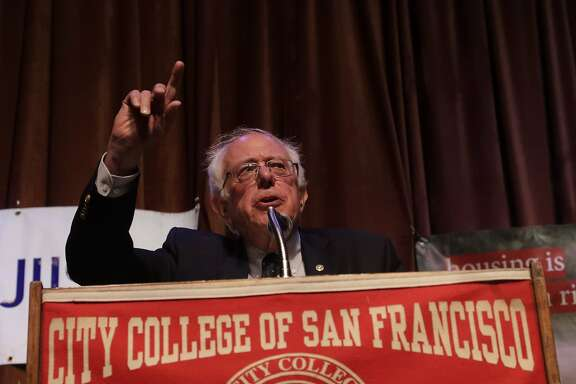 U.S. Senator Bernie Sanders speaks at City College of San Francisco on Friday, Sept. 22, 2017 in San Francisco, CA