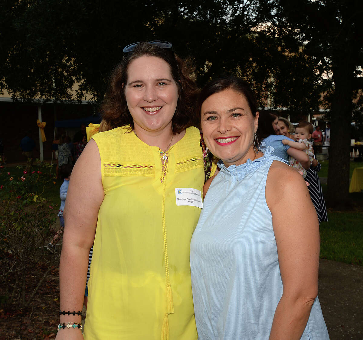 Kristina Knowles and Stephanie Gertz were at Monsignor Kelly High School's homecoming pre-game tailgating party Photo taken Friday, September 22, 2017 Kim Brent/The Enterprise