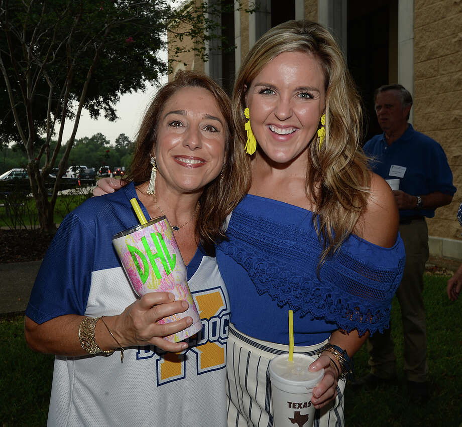 Denise Henke and Haylee Faggard were at Monsignor Kelly High School's homecoming pre-game tailgating party  Photo taken Friday, September 22, 2017 Kim Brent/The Enterprise Photo: Kim Brent / BEN