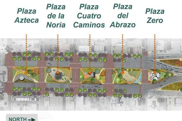 El diseño propuesto convertiría a la avenida San Darío y Santa Úrsula en bulevares, donde el tráfico que va al centro y el tráfico que va al puente estarían divididos en tres líneas