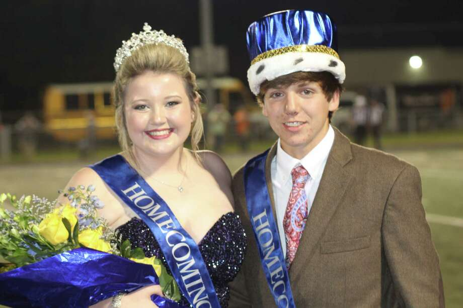 Madisyn Sims and Cade Ray were named the Hardin Homecoming Queen and King during halftime festivities at Hardin's game Friday night against Warren. Photo: Vanesa Brashier