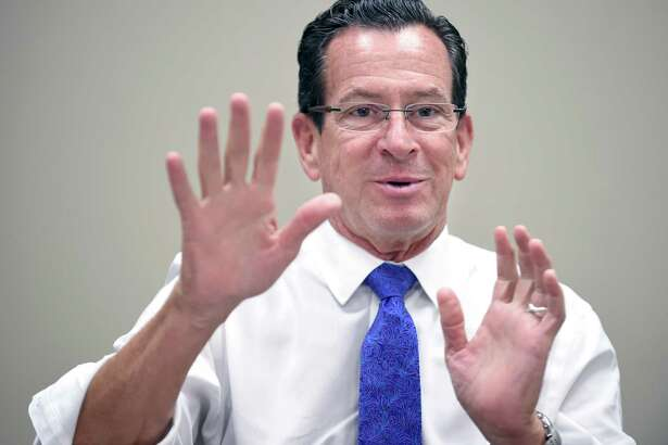 Gov. Dannel P. Malloy attends a Hearst Connecticut Editorial Board session earlier this month.