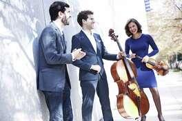 The Brown-Urioste-Canellakis Trio, from left, Michael Brown, piano; Nick Canellakis, cello; and Elena Urioste, violin.