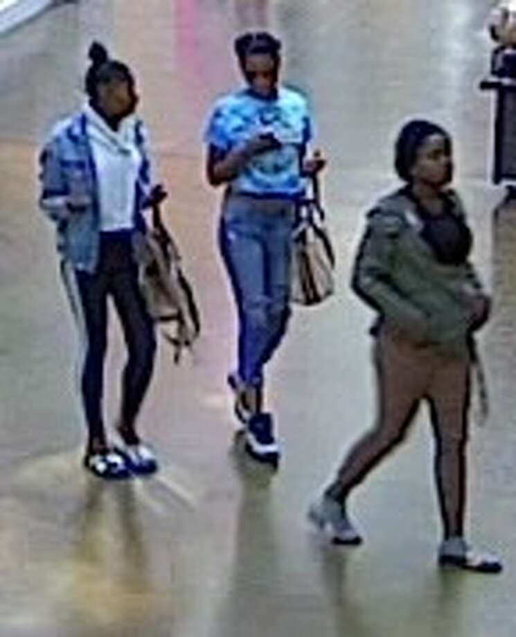 The three suspects are seen inside of the mall. Photo: San Rafael Police Department