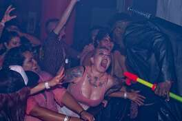 """The Korova played host to a clutch of vampire wannabes at a creepy Blood Rave Friday night, Sept. 22, 2017. The goth-y blood lusting revelers gathered for """"the bloodiest party of the season of horror,"""" according to presenter Rockula Horror Expo."""