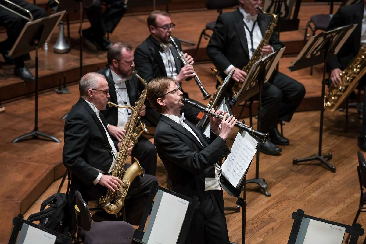 """Clarinetist Carey Bell in Leonard Bernstein's """"Prelude, Fugue, and Riffs"""" with SF Symphony, 9/22/17"""