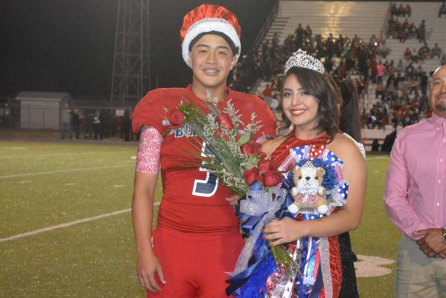 The 2017 Plainview High School Homecoming Queen is Anahi Cordero and the Homecoming King is Jimmy Phan. The duo received the honor and their crowns at halftime of the Plainview football team's homecoming game at Greg Sherwood Memorial Bulldog Stadium Friday night. The Bulldogs won the game, 30-0. Among her school activities, Cordero is a member of the Lady Bulldog volleyball team. Among his activities, Phan plays on the football team. Photo: Skip Leon/Plainview Herald