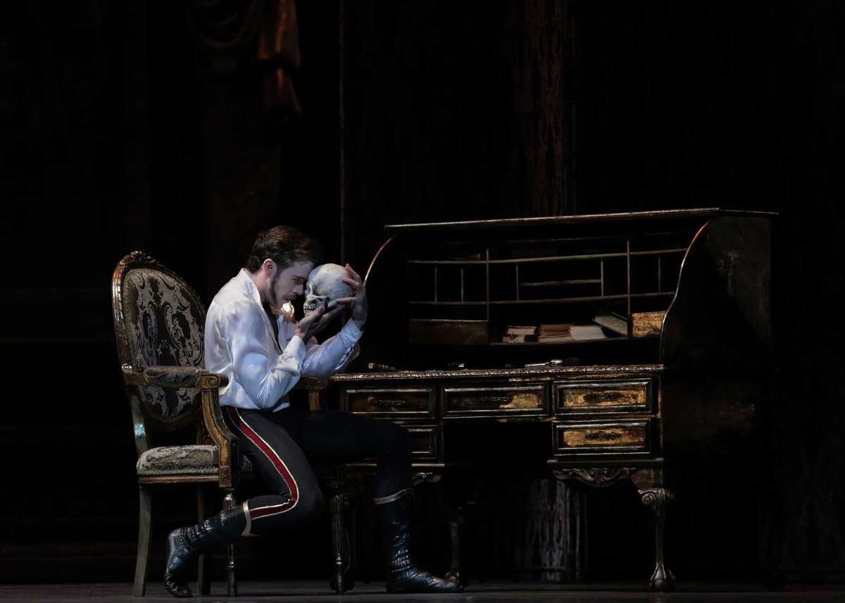 """Connor Walsh is the death-obsessed Crown Prince Rudolf in Houston Ballet's new production of """"Mayerling."""""""