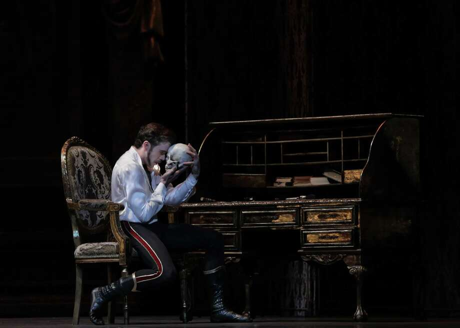 "Connor Walsh is the death-obsessed Crown Prince Rudolf in Houston Ballet's new production of ""Mayerling."" Photo: Amitava Sarkar / 2017"