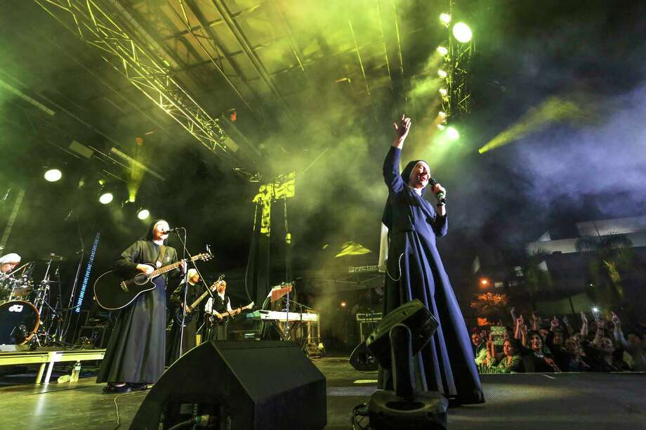 Siervas performs at the Festival de Cristo at Christ Cathedral in Garden Grove, Calif.  The band gained an international following after its debut three years ago. Photo: Challenge Roddie, HONS / Diocese of Orange