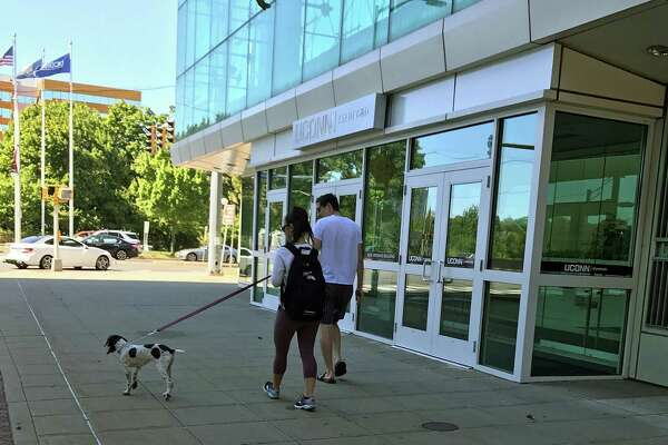 A part of the University of Connecticut Stamford campus was almost entirely vacant Saturday, Sept. 23, 2017, in the early afternoon. The university's president, Susan Herbst, has voiced her extreme concern for the impact of the approved state budget on the university.