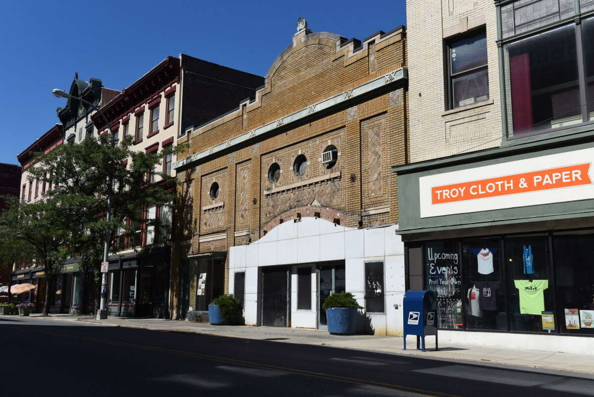 Exterior of the former American Theater on River Street on Monday, Sept. 12, 2016, in Troy, N.Y. The building is to be revived as a movie theater. (Will Waldron/Times Union)Click through the gallery to see photos of Troy through the years.