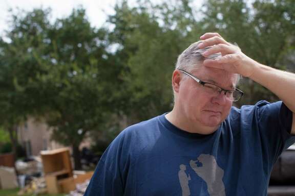 Scott Drawdy, 51, had to swim through tainted floodwaters to get back to his flooded home in the Cinco Ranch master-planned community west of Houston. His home was among about 790 damaged by Hurricane Harvey. Now that the floodwaters have receded, some homeowners are questioning whether their municipal utility districts are doing enough to protect them and prevent such devastation again.