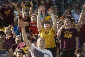Fans take in a game between Central Michigan University and Miami (Ohio) on Saturday, September 23, 2017 at Kelly/Shorts Stadium in Mt. Pleasant. (Katy Kildee/kkildee@mdn.net)