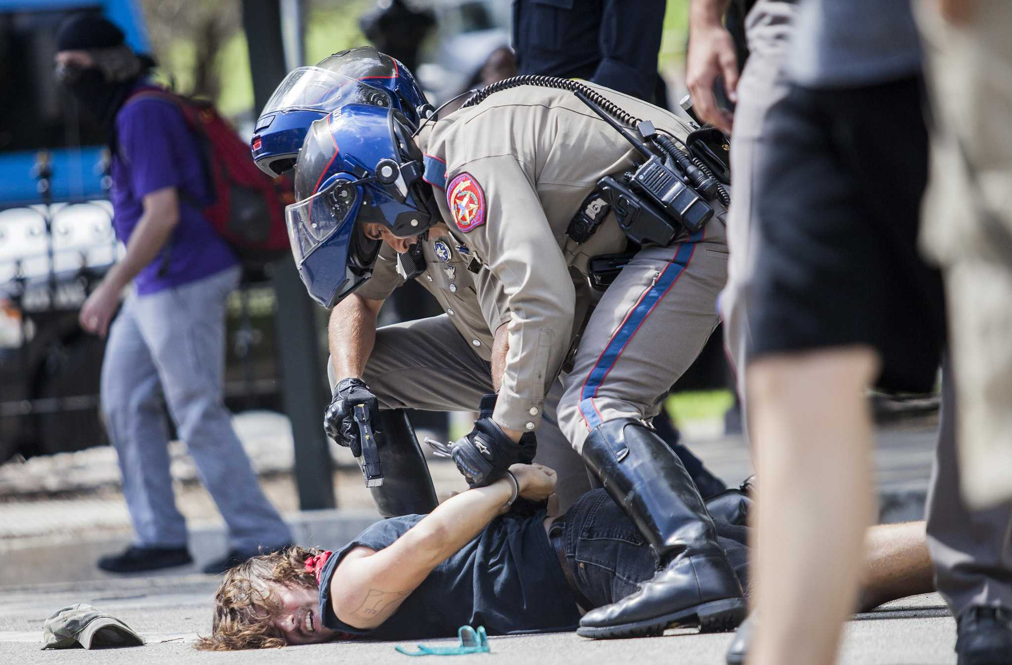 Counter Protest Turns Rowdy On Capitol Grounds San