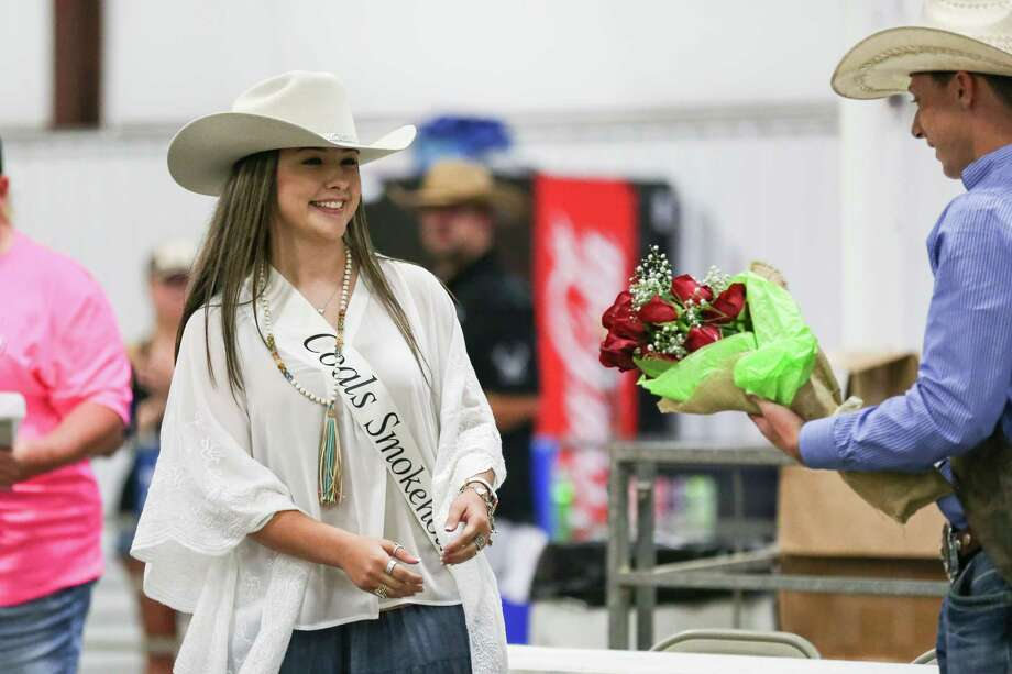 2017 Fair Queen Madison Brown is announced during the East Montgomery County Fair and Rodeo on Saturday, Sept. 23, 2017, at A.V. 'Bull' Sallas Park in New Caney. Photo: Michael Minasi, Staff Photographer / © 2017 Houston Chronicle