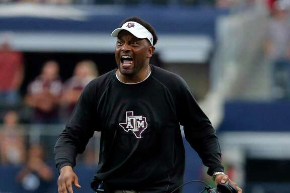 In a nail-biter against Arkansas, Kevin Sumlin works to keep his Aggies focused and calm.