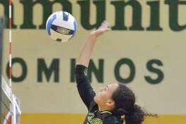 Laredo Community College's Karlee Lynd and the Palominos swept both Victoria College and Universidad Regiomontana on Saturday during the final day of the Border Classic in Laredo.