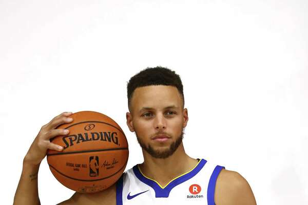 OAKLAND, CA - SEPTEMBER 22:  Stephen Curry #30 of the Golden State Warriors poses for a portrait during a photo shoot during the Golden States Warriors media day at Rakuten Performance Center on September 22, 2017 in Oakland, California. NOTE TO USER: User expressly acknowledges and agrees that, by downloading and or using this photograph, User is consenting to the terms and conditions of the Getty Images License Agreement.  (Photo by Ezra Shaw/Getty Images) ORG XMIT: 775045990
