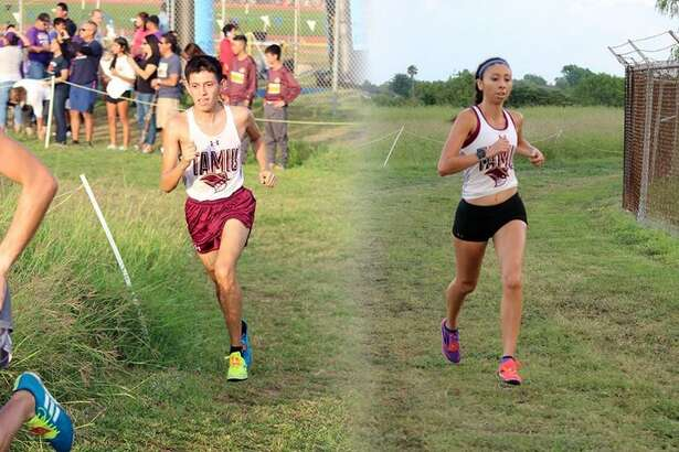 Texas A&M International's Eugene Garza and Rebekah Hernandez paced the Dustdevils to team titles at the Islander Splash on Saturday in Corpus Christi.