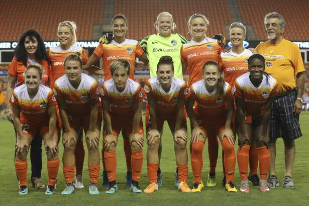 Houston Dash starting XI poses for a photo before taking on Chicago Red Stars at BBVA Compass Stadium Saturday, Sept. 23, 2017, in Houston. ( Yi-Chin Lee / Houston Chronicle )