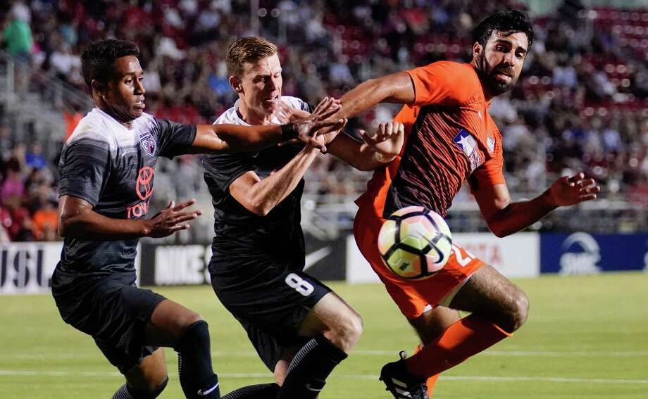RGV FC Toros play San Antonio FC during the first half of a USL soccer match, Saturday, Sept 23, 2017, at Toyota Field in San Antonio. Photo: Darren Abate /USL / Darren Abate Media LLC