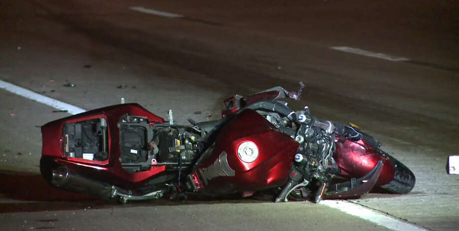 A 28-year-old on a motorcycle was killed after the SUV in front of him slowed abruptly, then fled. Photo: Metro Video
