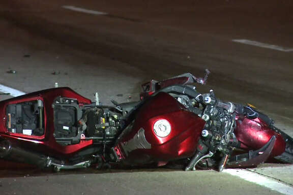 A 28-year-old on a motorcycle was killed after the SUV in front of him slowed abruptly, then fled.