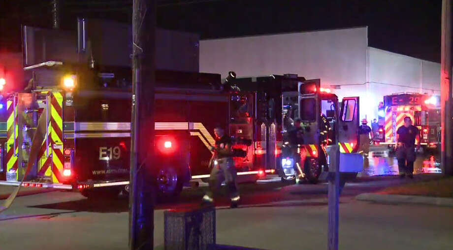 Firefighters in Atascocita responded to a blaze at the Tin Roof BBQ. Photo: Metro Video