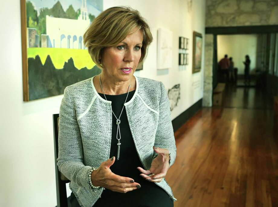 Interview with San Antonio City Manager Sheryl Sculley, at the Plaza de Armas Gallery on Tuesday, Sept. 19, 2017. Sculley was the youngest and first woman as city manager in Kalamazoo, Michigan in 1984. Photo: Bob Owen /San Antonio Express-News / ©2017 San Antonio Express-News