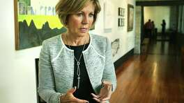 Interview with San Antonio City Manager Sheryl Sculley, at the Plaza de Armas Gallery on Tuesday, Sept. 19, 2017. Sculley was the youngest and first woman as city manager in Kalamazoo, Michigan in 1984.