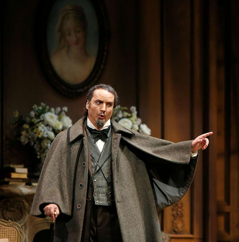 Artur Rucinski as Alfredo's father Giorgio Germont during a rehearsal of San Francisco Opera's Verdi's