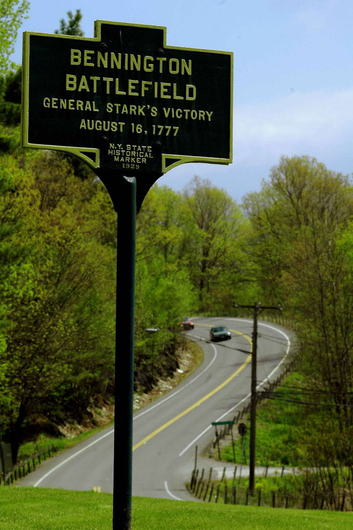 The Bennington Battlefield is a short distance east of Route 22 on Route 67 in Walloomsac. It is here that a British force in 1777 was defeated by militias from New York and New England in a battle that helped turn the tide for the Continental Army.