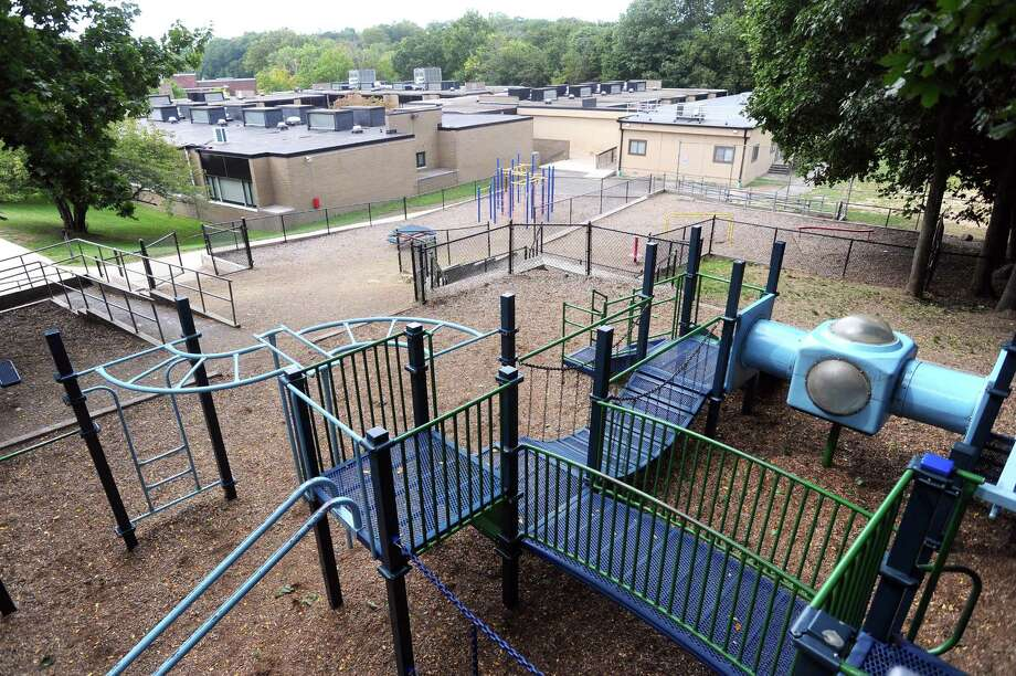 The playground at Toquam Elementary School will soon be renovated. Photographed at Toquam Elementary School in Stamford, Conn. on Thursday, Sept. 21, 2017. Photo: Michael Cummo / Hearst Connecticut Media / Stamford Advocate