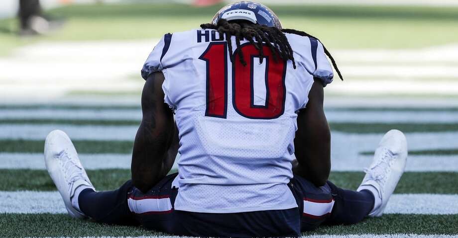 PHOTOS: Patriots 36, Texans 33Houston Texans wide receiver DeAndre Hopkins (10) sits on the field after a last-second pass to the end zone failed, giving the New England Patriots a 36-33 win at Gillette Stadium on Sunday, Sept. 24, 2017, in Foxbourough, Mass. ( Brett Coomer / Houston Chronicle )Browse through the photos to see action from the Texans' loss to the Patriots on Sunday. Photo: Brett Coomer/Houston Chronicle