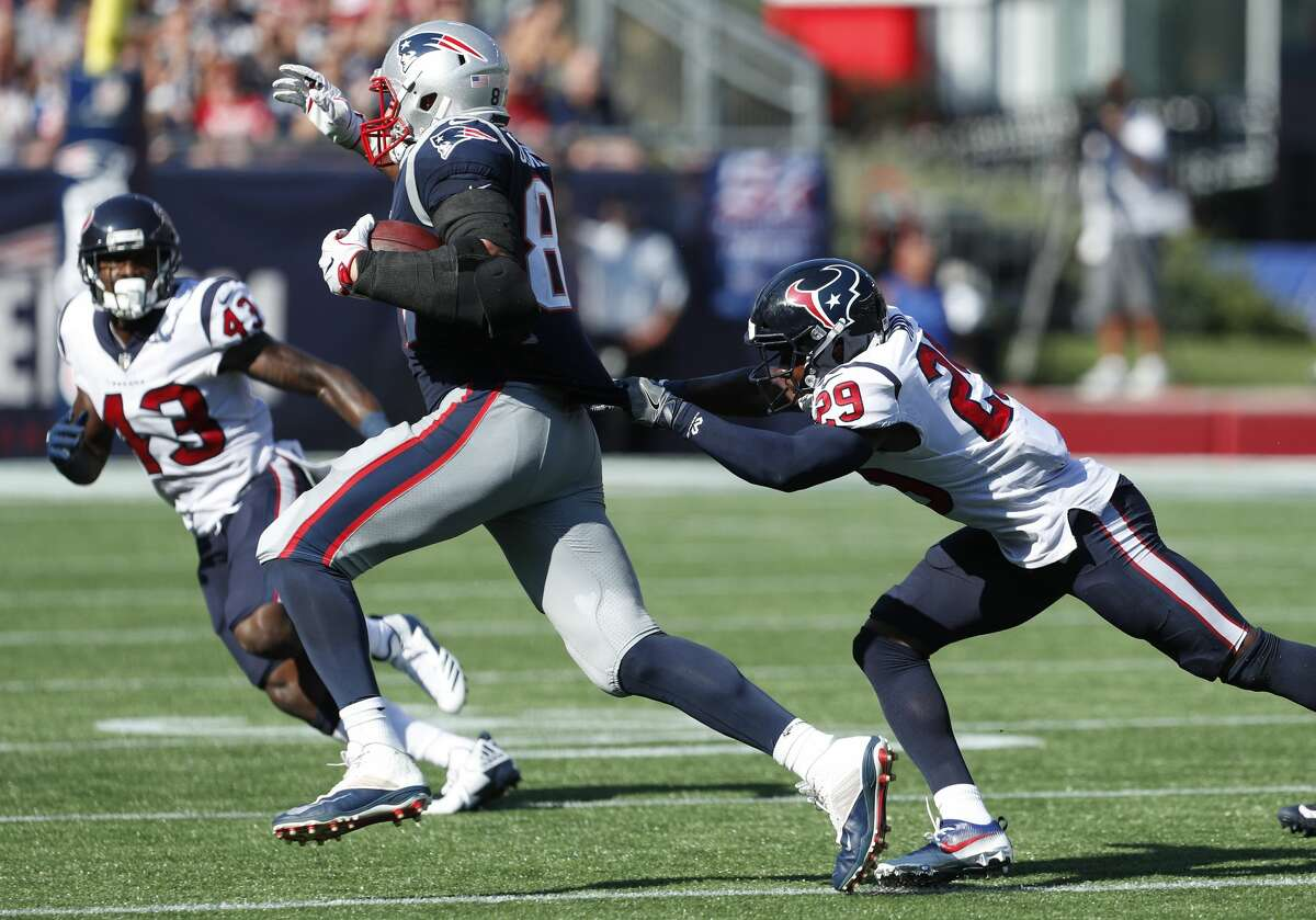How the Texans contend with Patriots star tight end Rob Gronkowski is among the questions in John McClain's mailbag this week.
