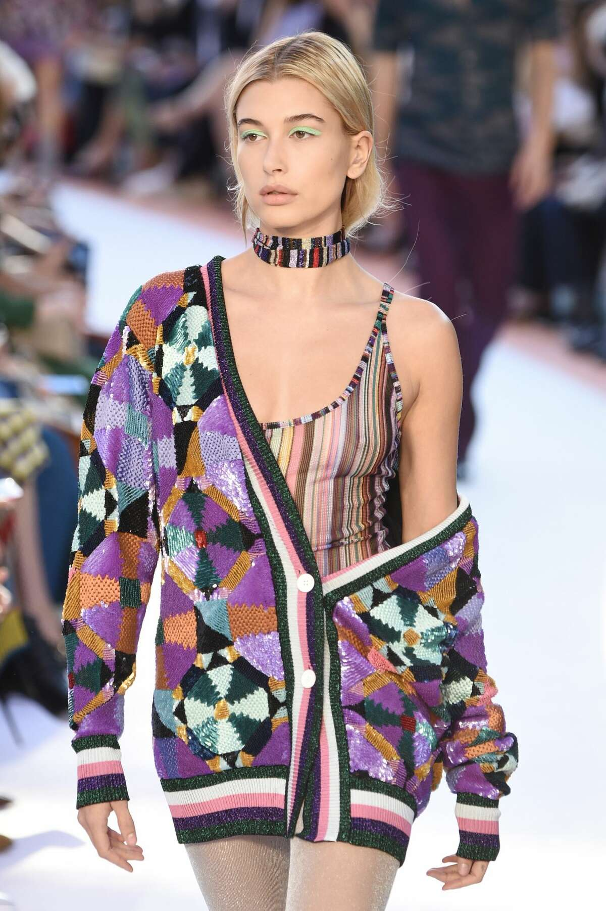 Hailey Baldwin walks the runway at the Missoni show during Milan Fashion Week Spring/Summer 2018 on September 23, 2017. Keep clicking to see the hit moments from Milan Fashion Week.