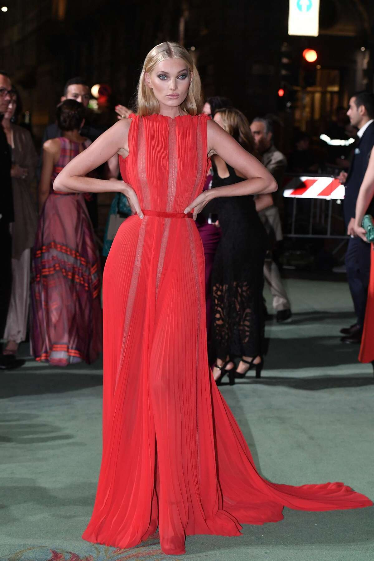 Elsa Hosk attends the Green Carpet Fashion Awards Italia 2017 during Milan Fashion Week Spring/Summer 2018 on September 24, 2017.